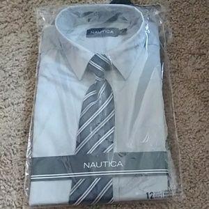 NWT Nautica boys Dress Shirt Combo. 12
